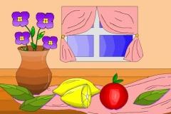"""Натюрморт с фруктами. Автор: Ройтман Софья , <br/>МАОУДО """"ЦДТ"""" (11 - 14 лет)"""