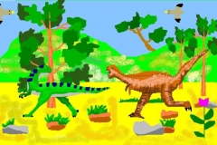 """Мир динозавров. Автор: Матвеева Виолетта, <br/>МКОУ """"СОШ с.Екатерино Никольское (6 - 10 лет)"""