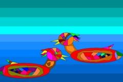 """Птицы на  воде. Автор: Просветова  Милена    , <br/>МАОУДО """"ЦДТ"""" (6 - 10 лет)"""