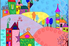 """Сказочный город. Автор: Ягуткина Мария, <br/>МАОУДО """"ЦДТ"""" (6 - 10 лет)"""