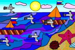 "Парусники. Автор:  Полина Бакланова, МАОУДО ""ЦДТ"""