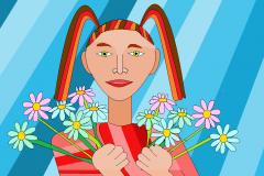 Девочка с ромашками. Автор: Гольцова Алиса