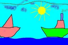 "О море,море. О солнце, солнце. И корабли. Автор: Ксения Голубцова, <br/> МБОУ ""СОШ №18 п. Теплоозерск"""