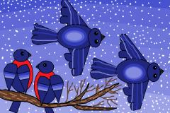 """Снегири. Автор: Елизавета Косточко, <br/> МАОУДО """"ЦДТ"""""""