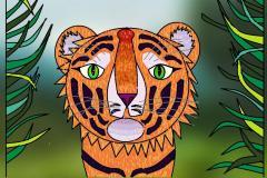 "Амурский тигр. Автор: Тургунова Александра, <br/> МАОУДО ""ЦДТ"""