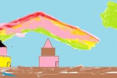 """Япония. Гора Фудзияма.Береза.  Автор: Диана Бициева <br/> МБОУ """"СОШ №18 п. Теплоозерск"""""""